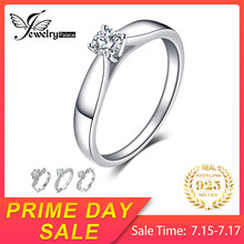 JewelryPalace Lovely Solitaire Engagement Rings Genuine 925 Sterling Silver Rings Promise Anniversary Birthday Gifts for Women(China)