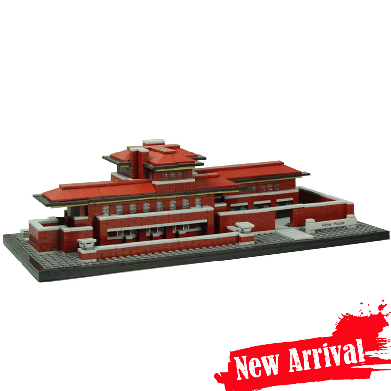 IN STOCK LEPIN 17007 2326Pcs Genuine Architecture Series The Robie House Set Educational Building Blocks Bricks Toys Model 21010 mini architecture series 4 cubicfun 3d educational puzzle paper
