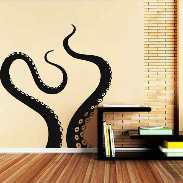 battoo bathroom decor large kraken octopus tentacles vinyl wall decal interior decor sticker removable room window