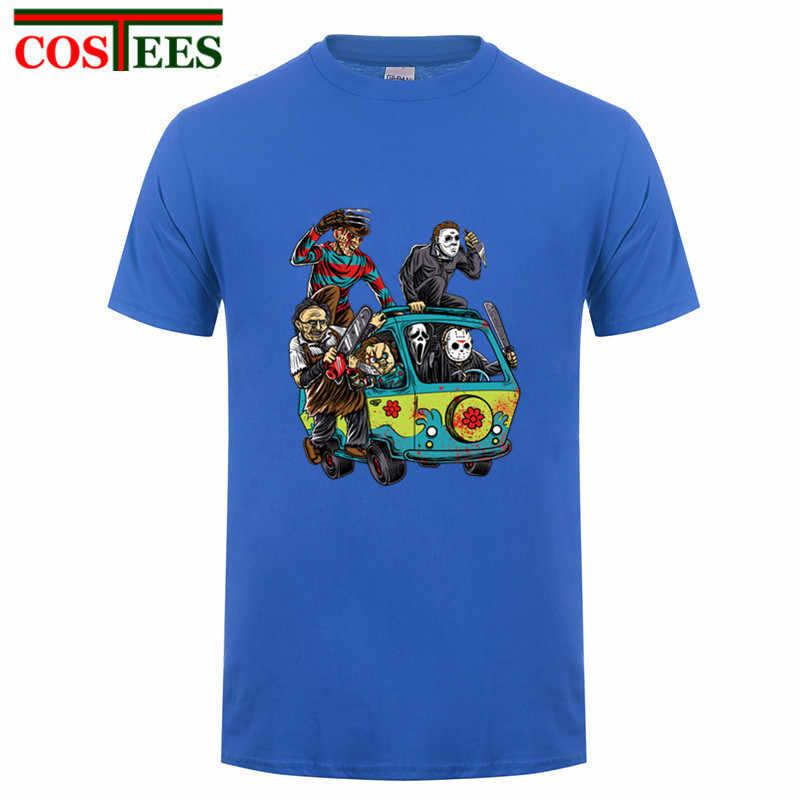 56a17456e33 ... Crazy Horror Killer Jason Voorhees T shirt Men Custom Friday the 13th  Tee The Massacre Machine ...