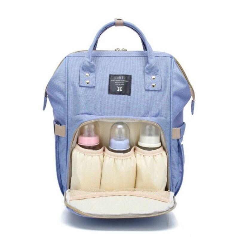 2018 Luxury Famous Mommy Backpack Mochila Feminina Women Bag Baby Canvas Backpacks Travel Multifunctional Solid Bottle Back Pack