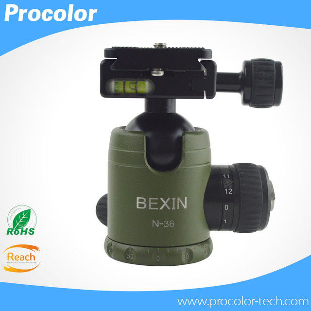 Bexin N-36 Camera Tripod Ball Head with Quick Release Plate 3/8 Screw for Camera Tripod