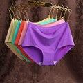 Mulher sem costura underwear multicolor sólida lingerie crotchless calcinhas de cintura baixa mulheres calcinha abdômen feminino invisible underwear
