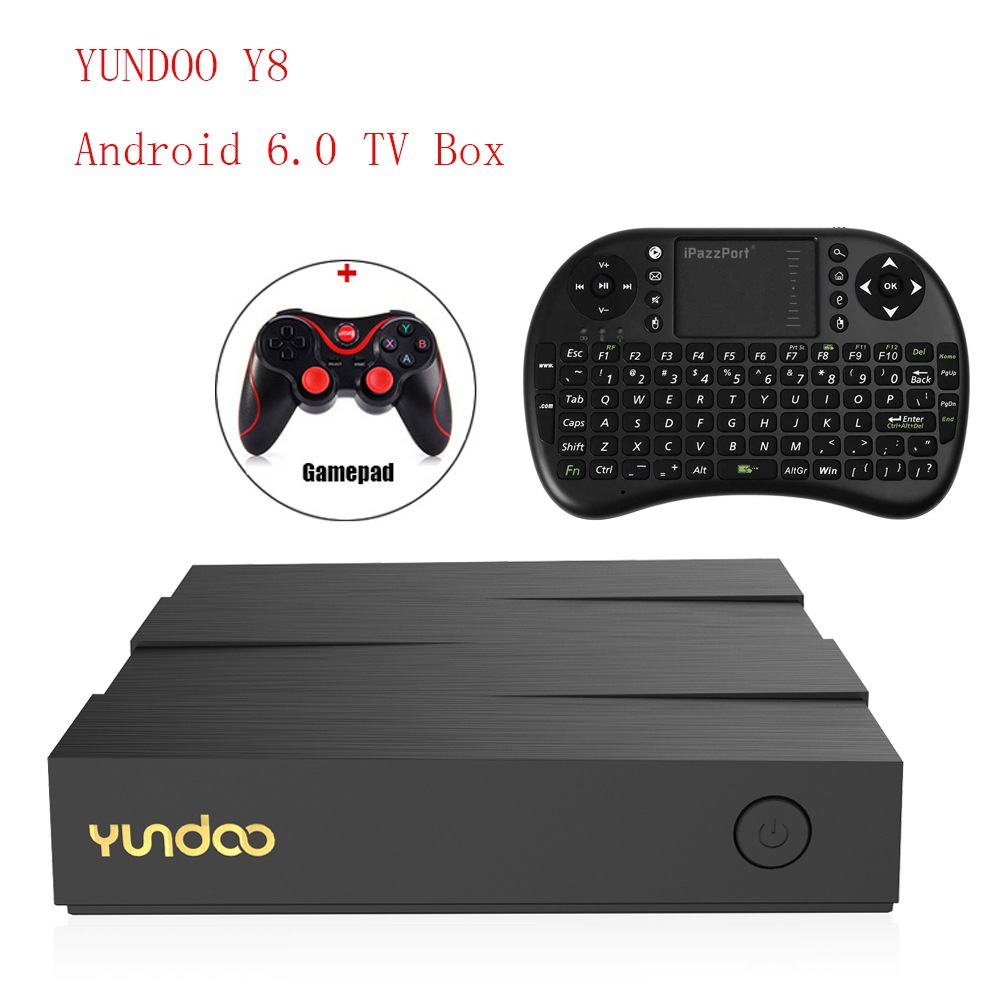 YUNDOO Y8 Android 6.0 Smart TV Box RK3399 Chipset Media Player 2G 16G/4G 32G 4K HD Wifi Bluetooth Cortex-A72 Set Top Box PK X96 медиаплеер merlin 4k android media hub