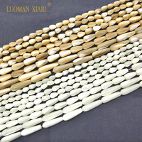 Natural Water-drop Shape Trochus Top Shell Stone White Beige Beads For Jewelry Making DIY Bracelet Necklace 4*75*86*126*20 mm