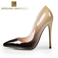 Nuevas Bombas de Las Mujeres Zapatos de Tacones Altos 12 CM de Lujo Diseñador Charol Zapatos de Boda Atractivos de Las Mujeres Con tacones B-0052