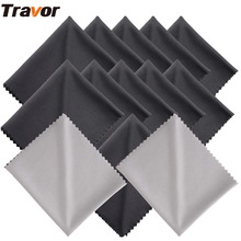 Travor 13Pcs 18*15cm Microfiber Cleaning Cloth for Camera Lens cleaning/LED Screens/Tablets/Smartphones 11 Black+2 Gray