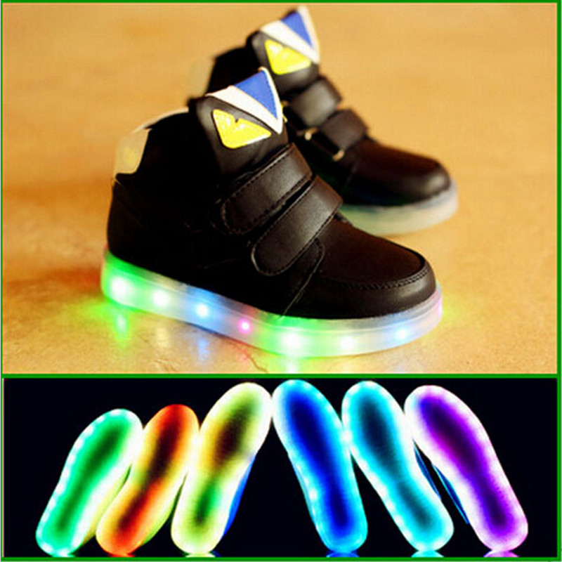 Fashion Baby Children Sneakers Led Light Shoes Sport Children Boots Luminous High Quality Boy Girl Kids Shoes Colorful Lighted