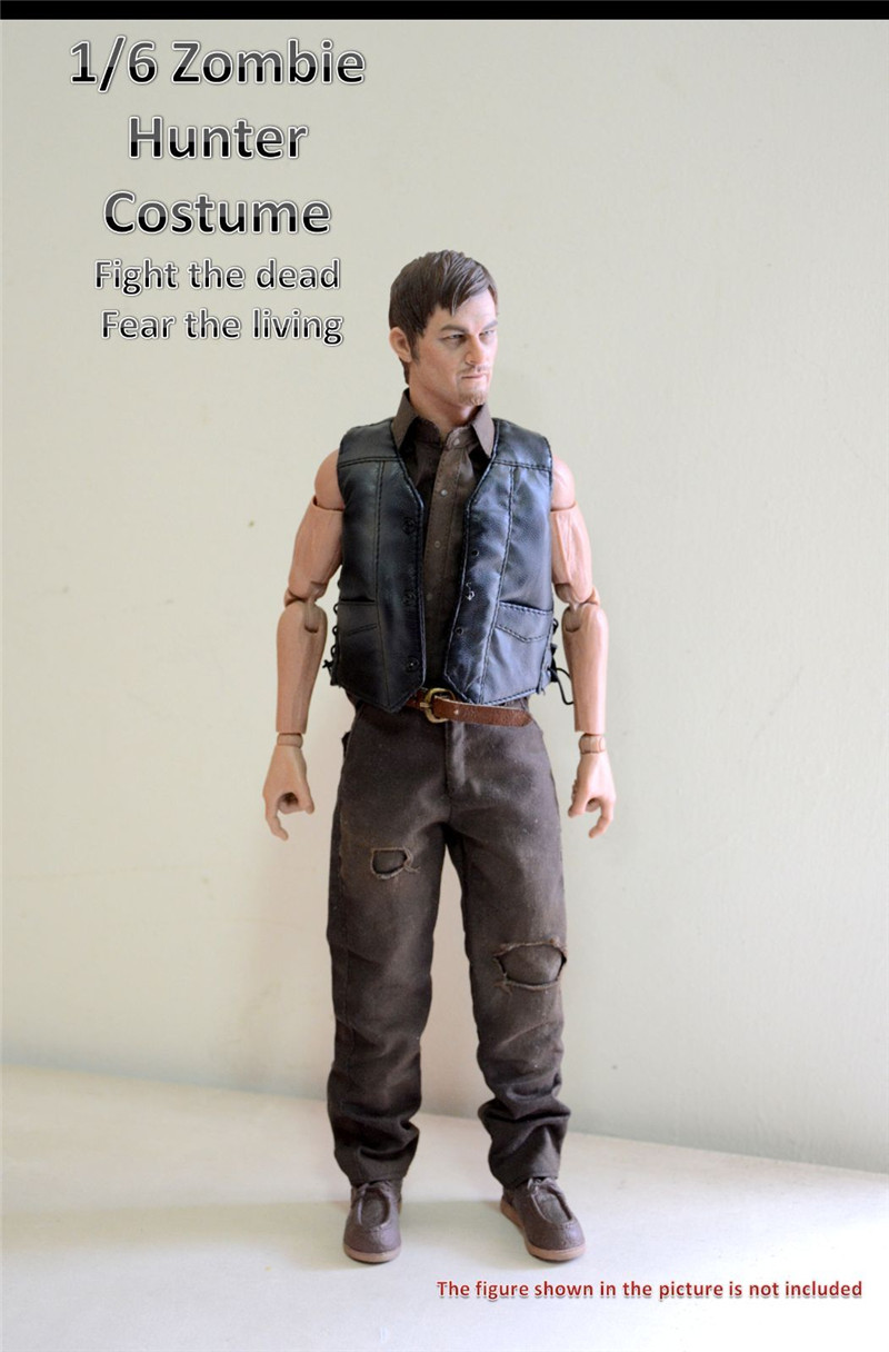 1:6 Scale male Figure Accessory clothes The Walking Dead Daryl suit for 12 Action figure doll,not include doll and other 6B2840 vesonal footwear brand men shoes casual male moccasins driving for ons popular quality walking soft genuine leather loafers man