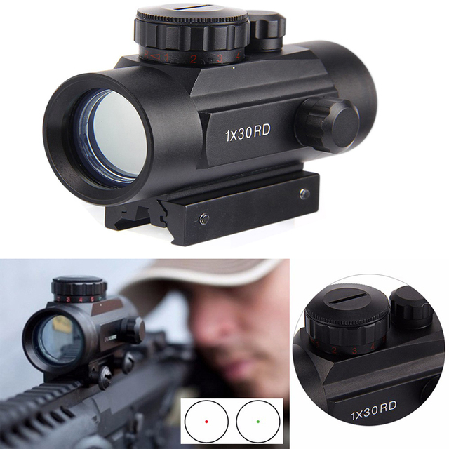 Hunting Tactical Riflescopes Red Green Dots holographic Optical Sight Scope Adjustable Gun Scope 1 x 30/40