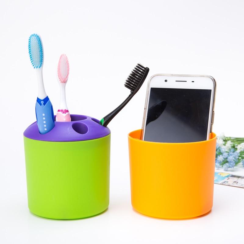 WCIC Desktop Storage Organizer Sundries Storage Box Tothbrush Makeup Holder Plastic Jewelry Candy Storage Basket