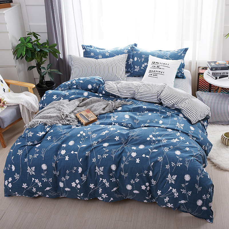 2019 New Bedding Set luxury Animal Fox 3 4pcs Family Set Include Bed Sheet Duvet Cover Pillowcase Boy Room Decoration Bedspread in Bedding Sets from Home Garden