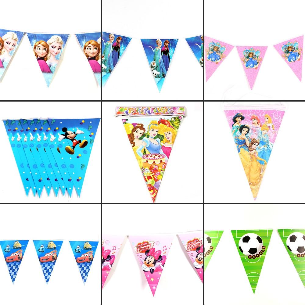 10 флагов/упаковка, флажки для темативечерние вечеринки принцессы, 2,5 м