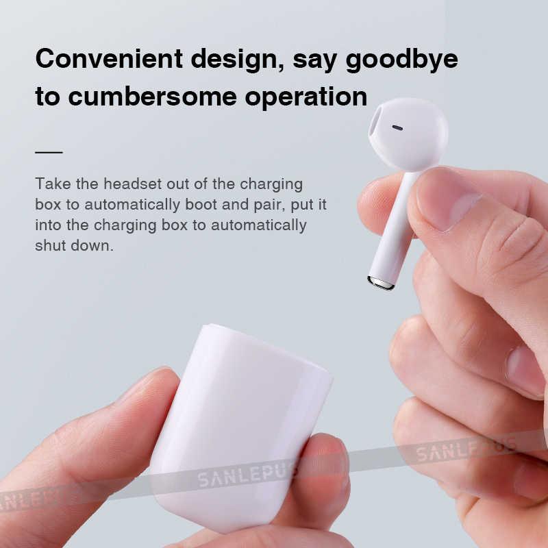 Беспроводные наушники SANLEPUS Bluetooth наушник-таблетка системы беспроводной голосовой связи наушники мини гарнитура с зарядным устройством для телефона Xiaomi samsung