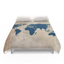 Buy map duvet cover and get free shipping on aliexpress charm home rustic world map bedding set size 4pcs gumiabroncs Images