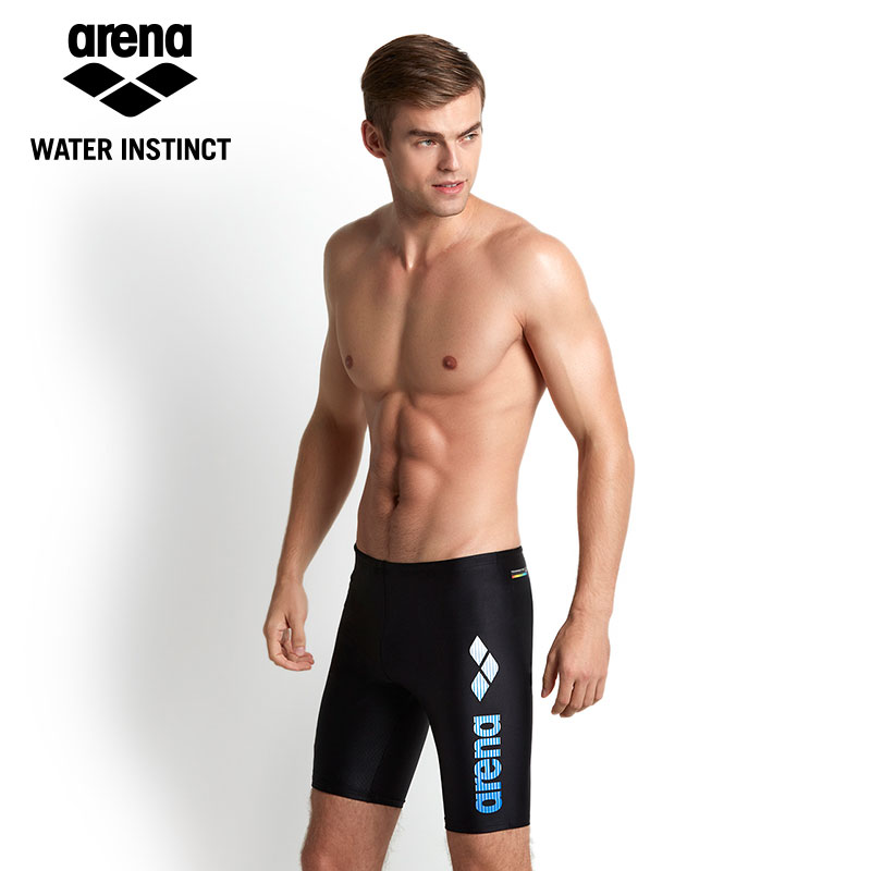 930acdc8b2 Arena 2018 New Men Swimming Trunks Mens Knee length Swim Wear Quick dry &  High Elastic-in Men's Trunks from Sports & Entertainment on Aliexpress.com  ...