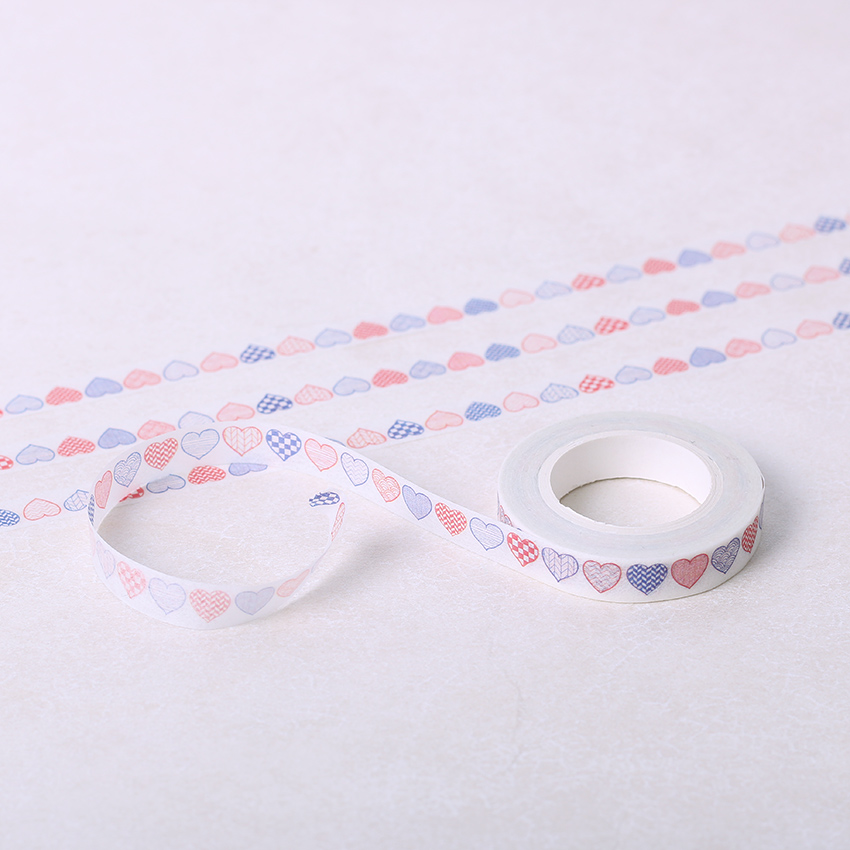 1 PC  DIY Paper Washi Tape Paper Decorative Love Heart Adhesive Masking Sticker Tapes Office Stationery