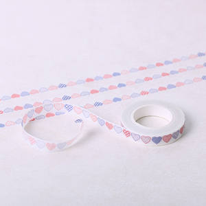 Masking Sticker Tapes Decorative Washi Heart Paper Office-Stationery Adhesive DIY Love