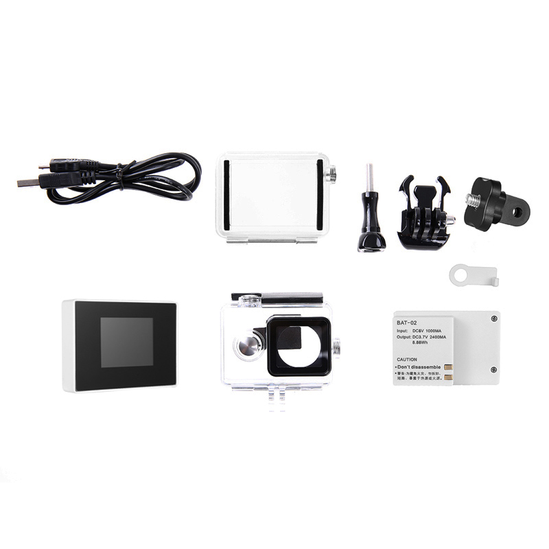 1.5inch TFT LCD BacPac External Monitor Non-touch Screen + Battery + Waterproof Housing Case For Xiaomi Yi Action Camera