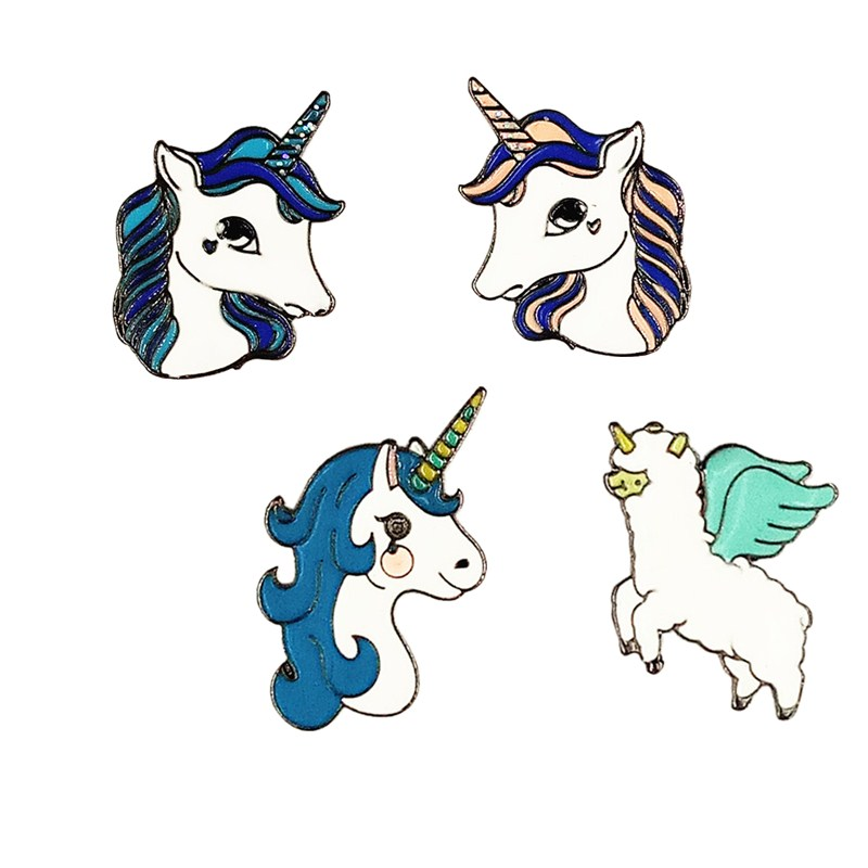 The pony brooch Individual character color drip brooch Pegasus brooch Clothing accessories