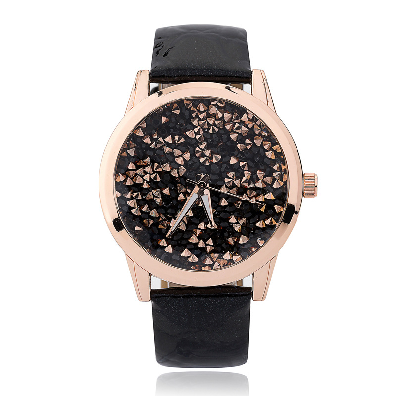 FUNIQUE Fashion Quartz Women Watch Rhinestone Leather Strap Casual Wrist Watches Gold Dial Ladies Watch Montre Femme Dress Clock купить