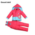 Baby 2015 Infant Boy Girl Warm Winter Coverall Snowsuit Outerwear Coats Kid Romper Down Parkas Jacket Clothing Sets 6-24 month