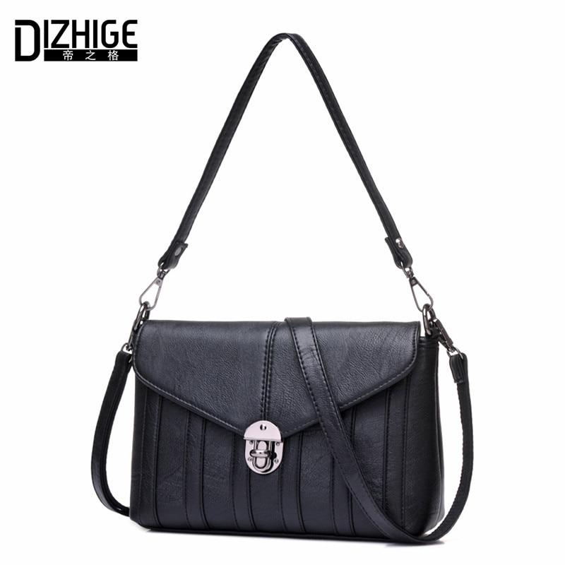 ФОТО DIZHIGE Brand Fashion Lock Luxury Handbags Women Bags Designer Shoulder Bags Ladies High Quality Genuine Leather Crossbody Bags