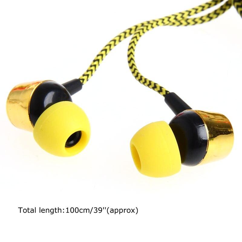Trenzado de 3.5mm En La Oreja Los Auriculares Con Micrófono Auricular Para el ip