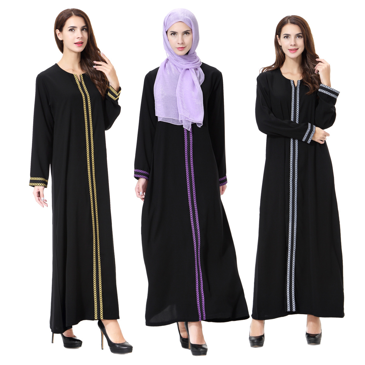 New Abayas for Women Muslim Dress islamic Clothing Dress Long Sleeve Robe  Muslim Islamic Dresses  Dubai Abaya Dresses