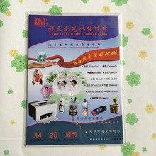 Прозрачная наклейка лазерная(10 шт./лот) A4 бумага для переноса воды используется с лазерным принтером хорошая прочность, не сломанная, без порошка