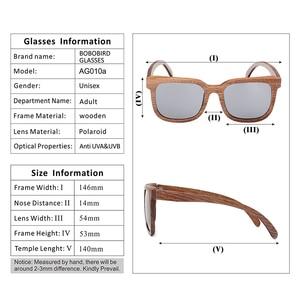 Image 5 - BOBO BIRD Black Walnut Wooden Men Sunglasses Polarized Vintage UV Protection Eyewear Women Bamboo Sun Glasses in Wooden Gift Box