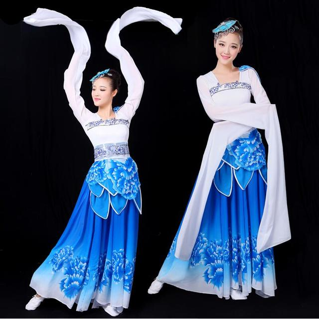 769c9be43 Classical Tang Dynasty Hanfu Ancient Stage Dance Wear Chinese traditional Folk  Dance dress Women Oriental Elegant Dance Costumes