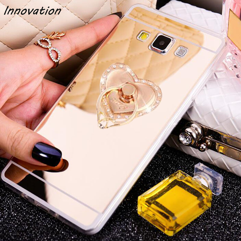 Luxury Bling Mirror Soft Clear TPU Case For Samsung Galaxy J1 2016 J2 J3 J5 J7 2017 A5 A7 2015 Ultra Thin Phone Cover image
