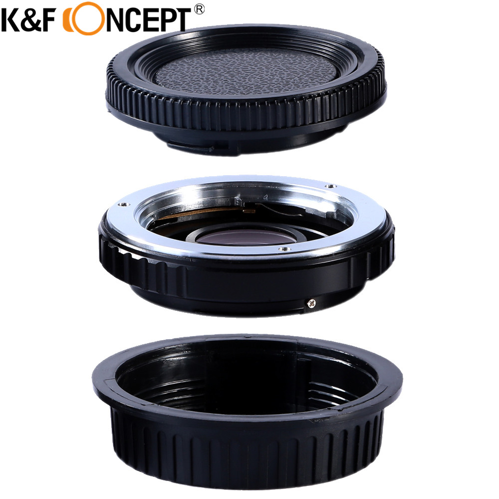 K&F CONCEPT For MD-EOS Camera Lens Adapter Ring For Minolta/KONICA MD Mount Lens For Canon EOS DSLR Camera With Infinity Focus fotga md eosm minolta md mc lens to canon m mount adapter black silver