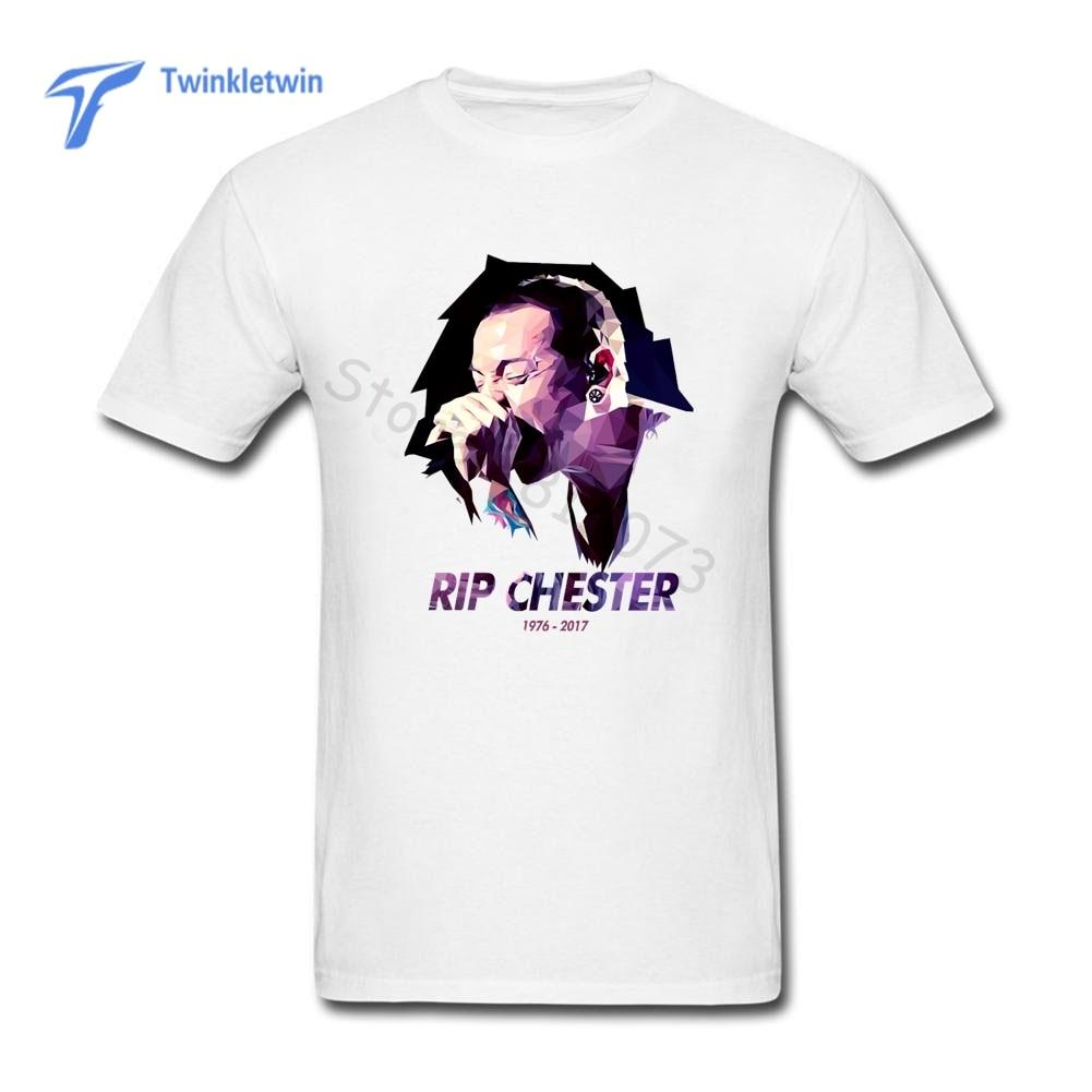 1b2f43950 2018 Summer New Male Chester Bennington T Shirt Men Print Linkin Park T- shirt Crew Neck Summer Short Sleeves Rock Tee Shirt
