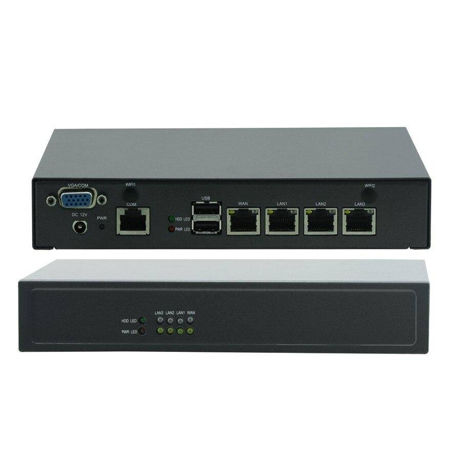 Mini PC Industrial Control Celeron J1900 Quad Core Network Security Desktop WAN Firewall Multi-function Router 4 GbE LAN