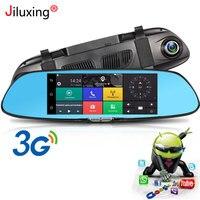 Jiluxing 7 Android 5.0 rearview mirror 1080P Car DVR 3G GPS navigation Car cameras Wifi Bluetooth rearview mirror Dash cam