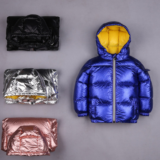 2018 Fashion Winter Down Jacket For Girls Boys Coats , 90% Down Jackets Children's Clothing For Snow Wear Kids Outerwear & Coats