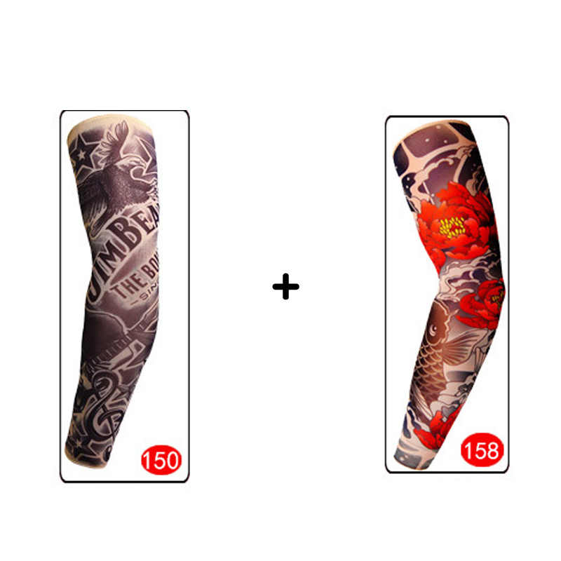 Detail Feedback Questions About Men 2 Pieces Tattoo Sleeve Elastic