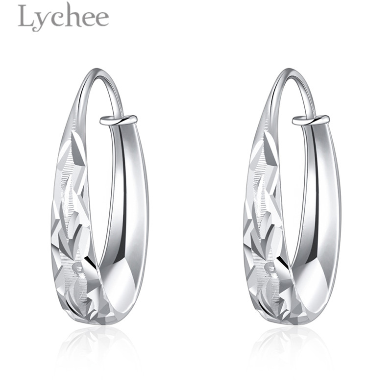 Lychee Vintage Carved Flower Earrings 925 Sterling Silver Jewerlry For Women Fine Jewelry Fashion Jewelry Female