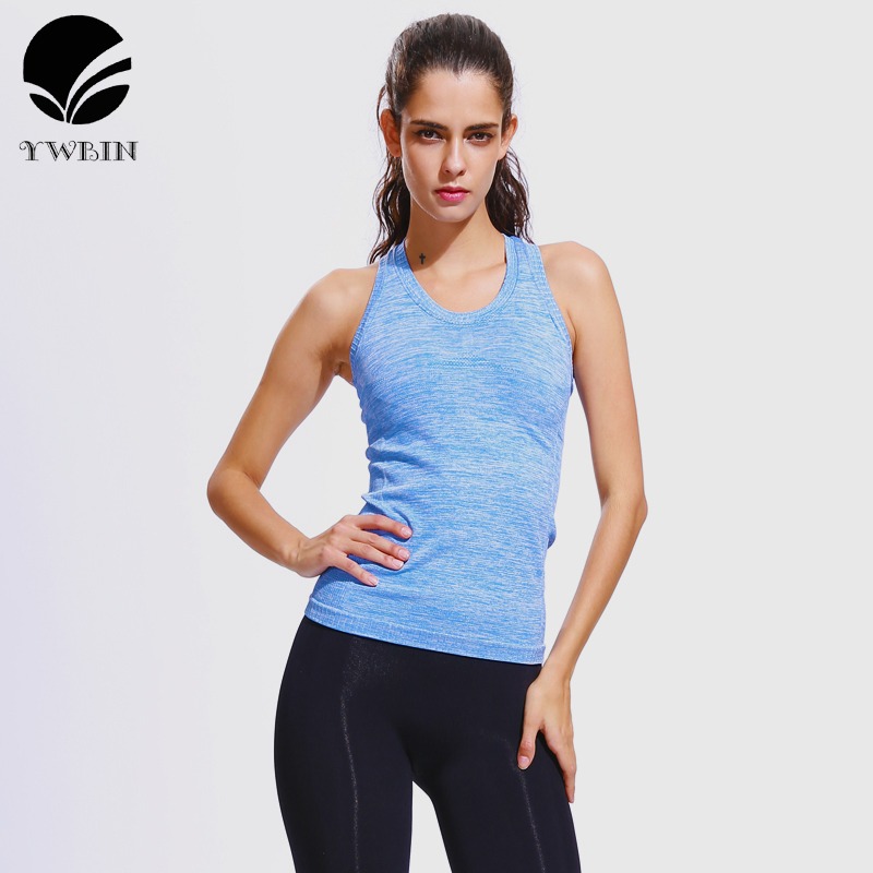 YWBIN Women Gym Neck Slim Ribbed Racerback Sports Padded Sleeveless Yoga Vest Tank Top Spandex Stretch Quick-Dry Breathable tops