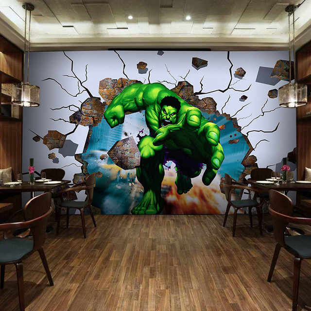 Buy free shipping 3d cartoon game for Chinese movie mural