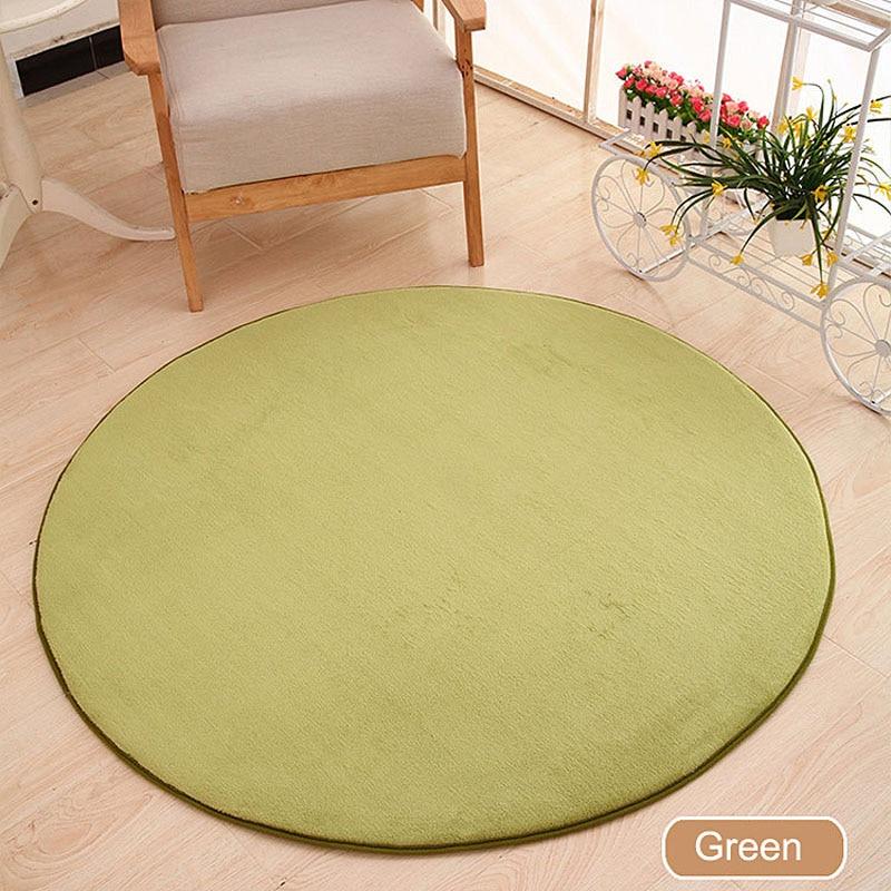 ONEONEY 80*80 простые приветственные круглые коврики с принтом для ванной, кухни, коврики для гостиной, противоскользящие - Цвет: 05