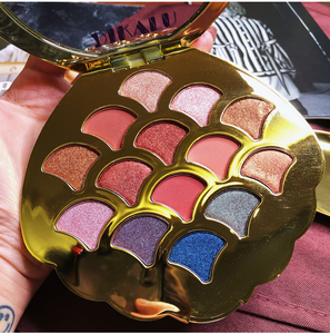 Image 4 - Mermaid Eyeshadow Palette 14 สี Shimmer Matte Glitter อายแชโดว์ Pallete METALLIC PigmentedCosmetic MakeupPalette หนัง