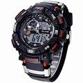 Da mesma forma Grande Mostrador Digital de Relógio Analógico Militar G Homens Do Exército choque Relógio Data Calendário Resistente À Água LED Sports Relógios De Borracha homens