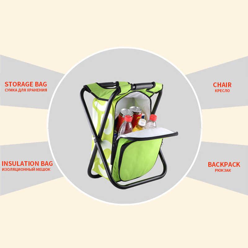 Рыболовный рюкзак стул согревающий холодный портативный складной пляжный стул легкий камуфляж сиденье кемпинг 150 кг подвижный хладагент