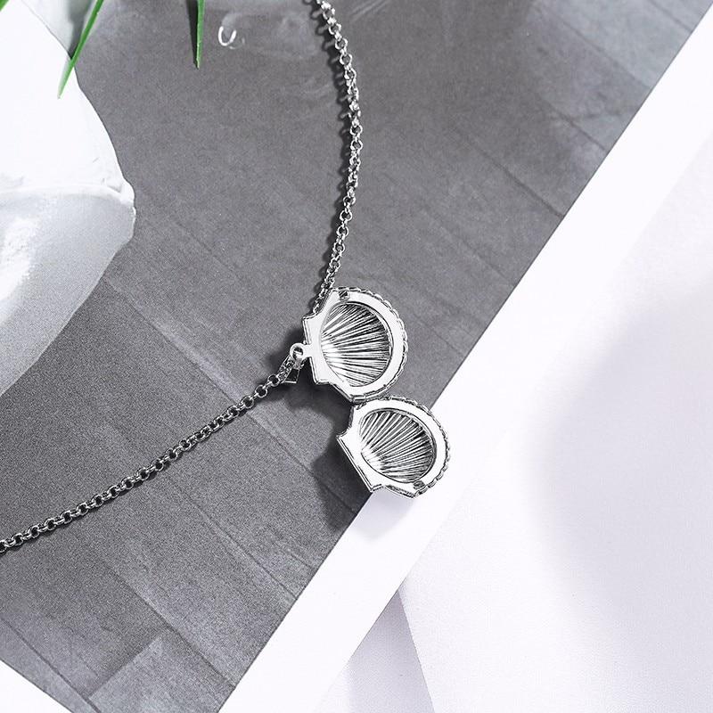 Antique Brass Sea Shell Locket Necklace