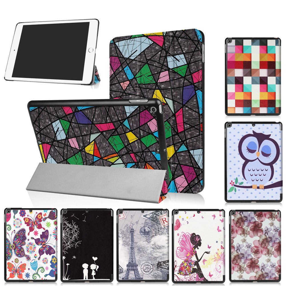 universal ipad9.7 case 2017ipad funda 2017 case leather tablet case cover Folding Stand Painted Cover for ipad2017 9.7 inch z70