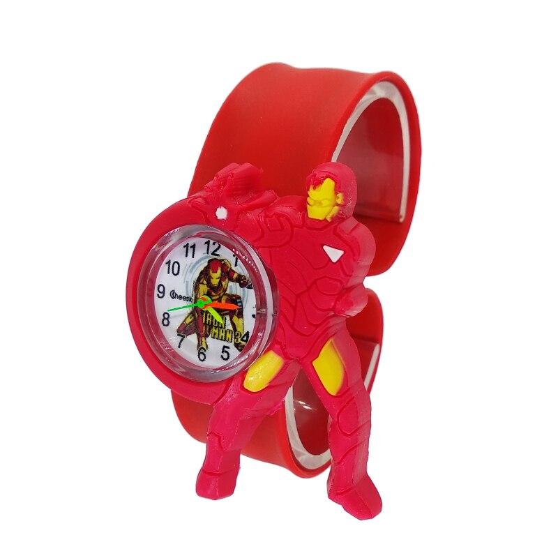 Cartoon Iron Man Child Watch Super Hero Children Clock Kids Quartz Waterproof Student Wrist Watches For Girls Boys Baby Toy Gift