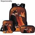 Школьная сумка для мальчиков и девочек Nopersonality Basenji  с принтом собаки  школьная сумка для мальчиков и девочек  классная школьная сумка для де...